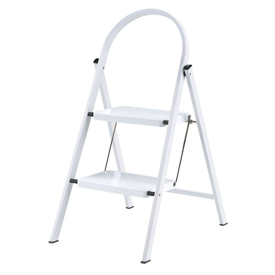 Abru 2-Tread Steel Stepladder - White