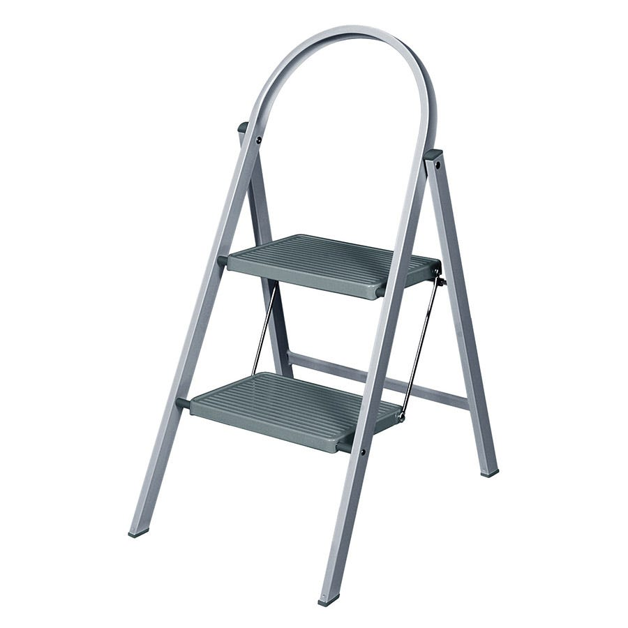 Abru 2-Tread Steel Stepladder - Grey