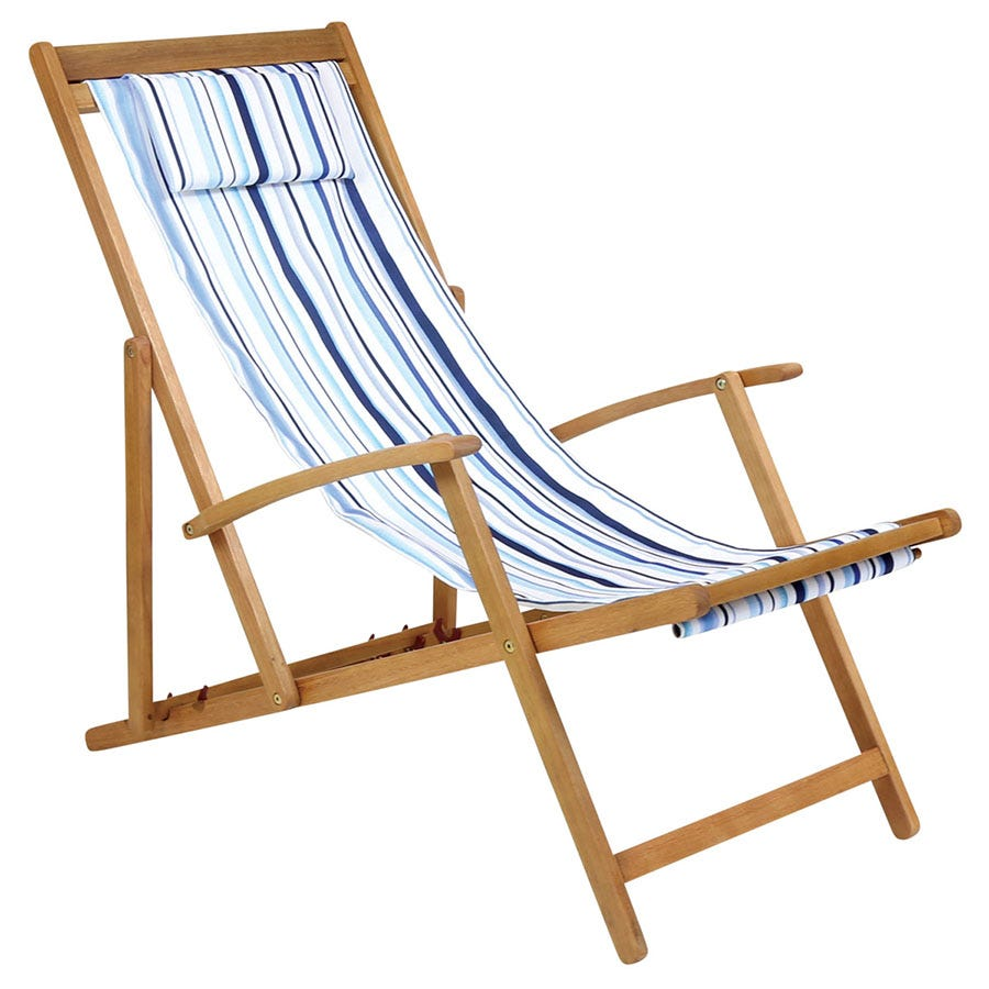 Cheapest price of Charles Bentley Deck Chair - Stripes in new is £59.99