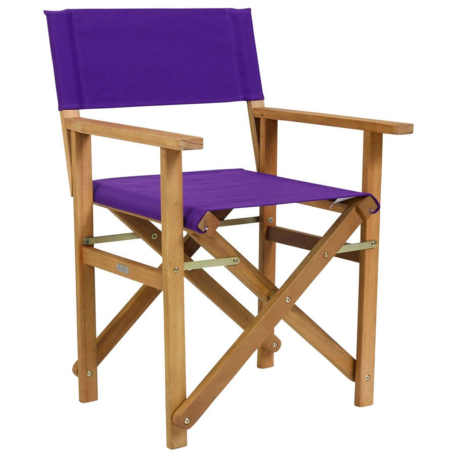 Compare cheap offers & prices of Charles Bentley Directors Chair - Plum manufactured by Charles Bentley