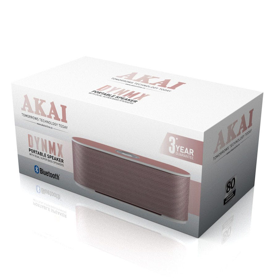 Compare prices for Akai Dynamx Bluetooth Speaker - Rose Gold