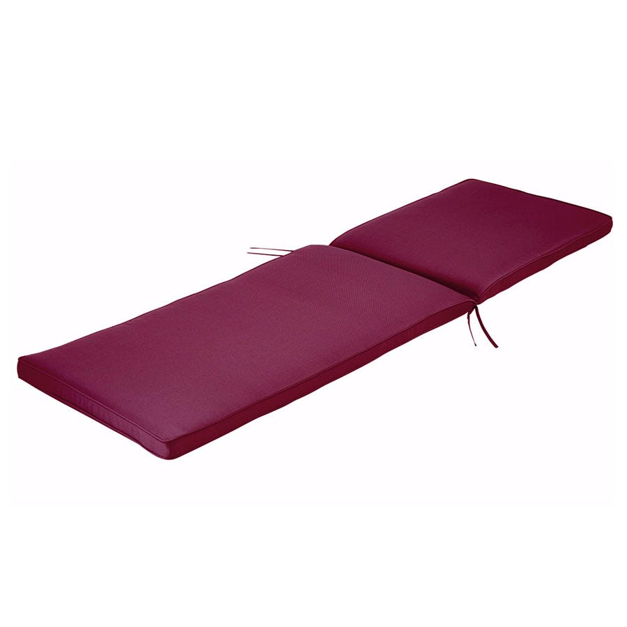 Charles Bentley Sun Lounger Cushion - Red