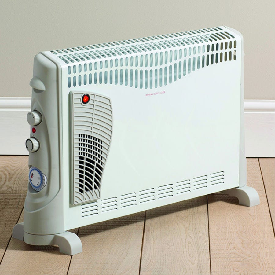 Daewoo 1200W Convector Heater with Turbo and Timer