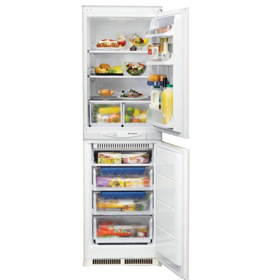 Compare prices for Hotpoint Aquarius HM325FF.2 Integrated Fridge Freezer - White