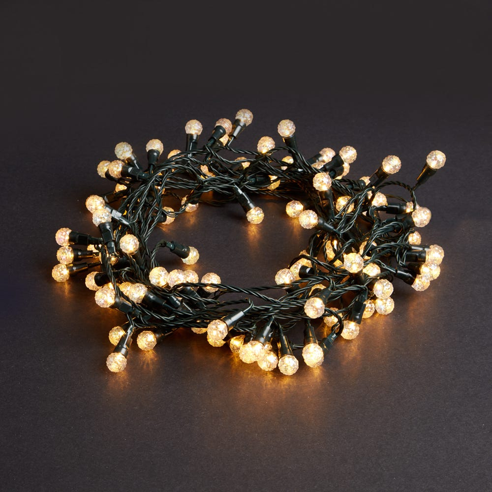 Image of Robert Dyas 100 Low Voltage LED Crackle Berry Lights - Warm White