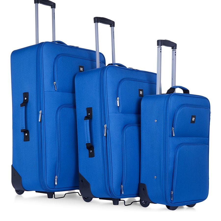 Compare prices for Revelation by Antler 3-Piece Alex Soft Suitcase Set