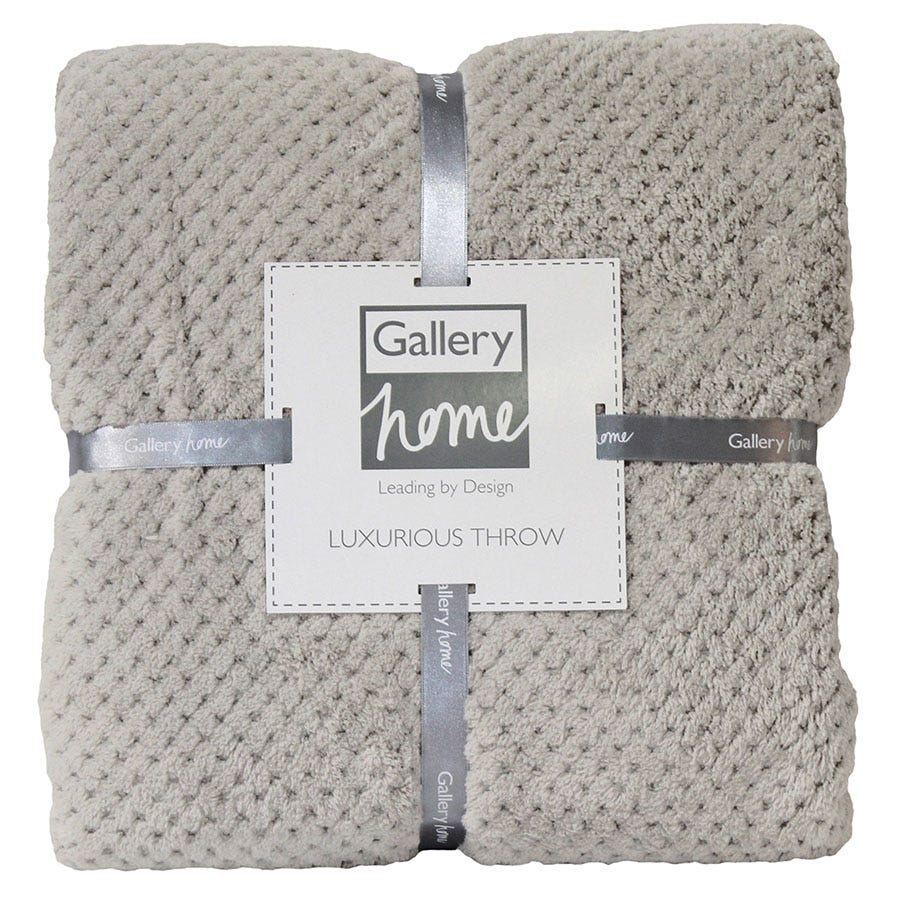 Compare prices for Gallery Waffle Fleece Throw - Natural