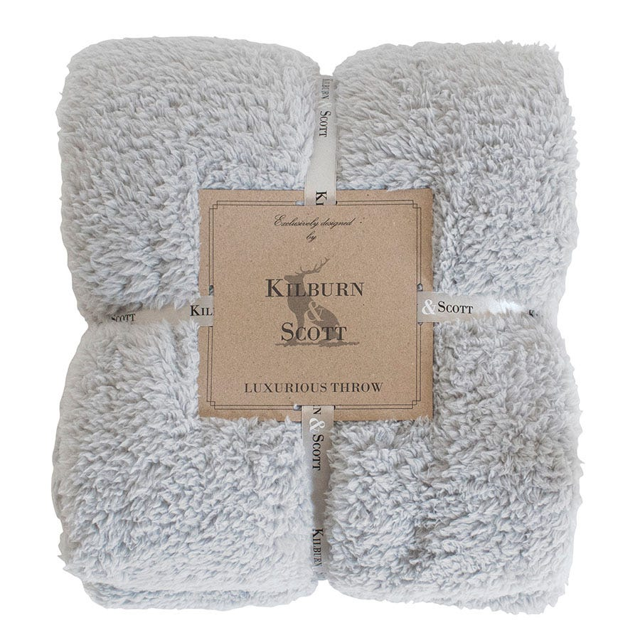Compare prices for Gallery Teddy Fleece Throw - Silver