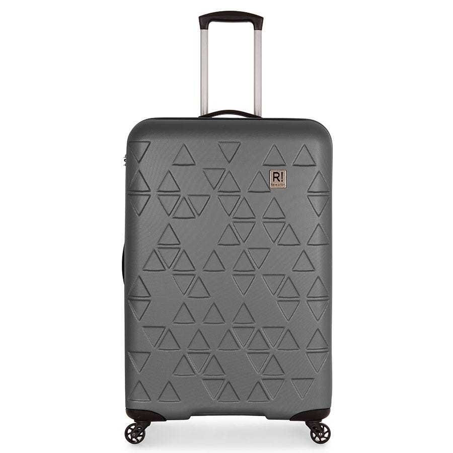 Compare prices for Revelation by Antler Echo 4-Wheel Large Suitcase - Charcoal
