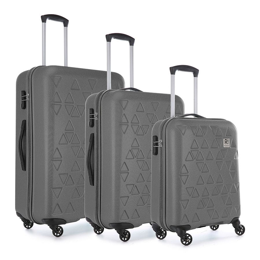Compare prices for Revelation by Antler Echo 3-Piece Suitcase Set - Charcoal
