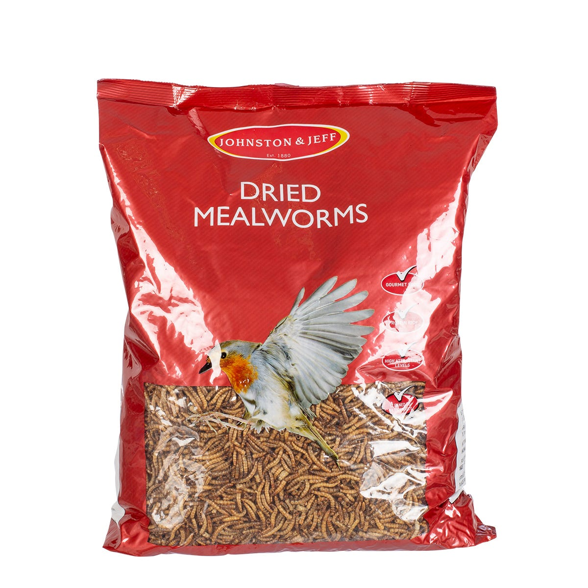 Compare prices for Johnston and Jeff Dried Mealworms - 1kg