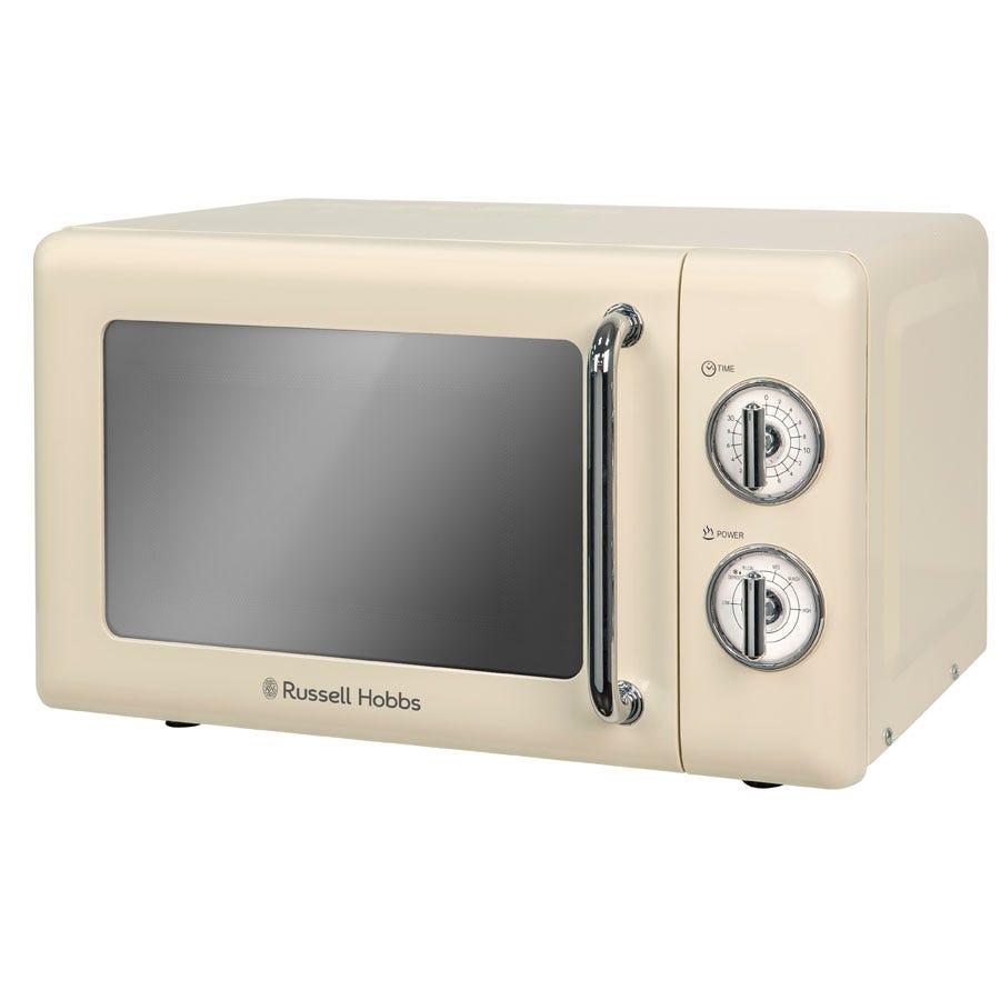 Russell Hobbs 17L Manual Retro Microwave - Cream