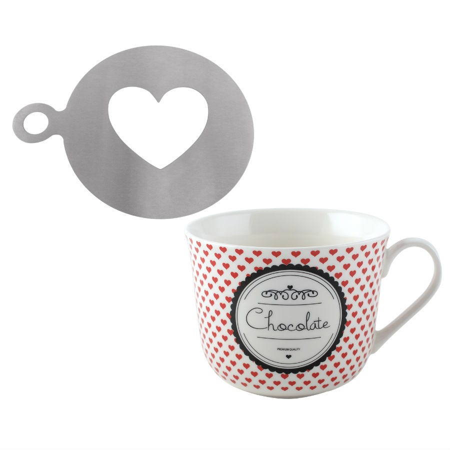 Compare prices for La Cafetiere Hot Chocolate Mug and Stencil Set