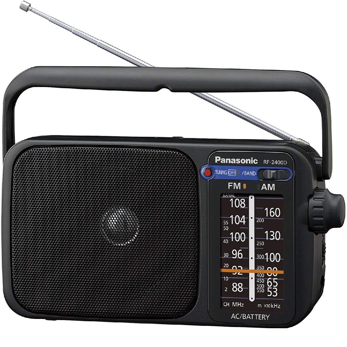 Panasonic RF-2400D Digital (Not Dab) AM/FM Portable Radio - Black