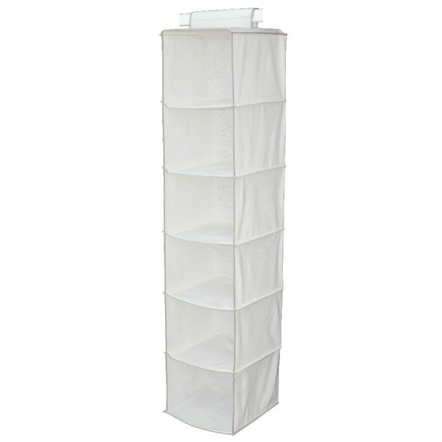 H & L Russel 6-Pocket Wardrobe Organiser - Cream