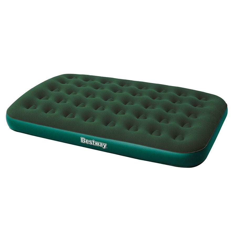 Compare prices for Bestway Green Flocked Inflatable Air Bed - Double