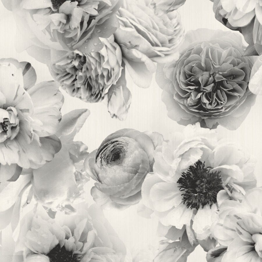 Cheapest price of Arthouse Diamond Wallpaper - Floral Mono in new is £13.49