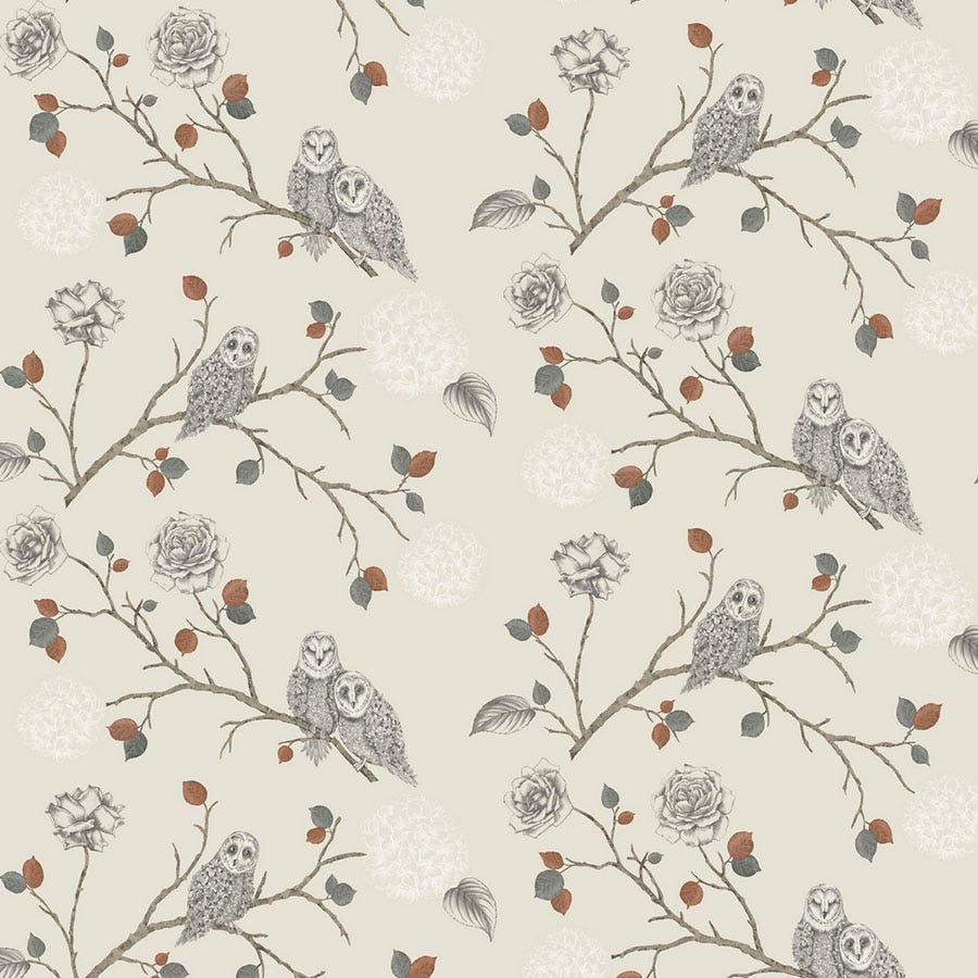 Cheapest price of Arthouse Night Owl Wallpaper - Copper in new is £14.99