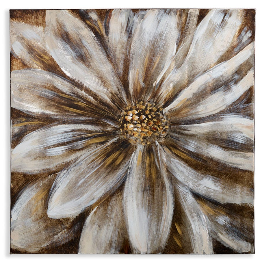 Compare cheap offers & prices of Arthouse Brushed Metal Flower Canvas manufactured by Arthouse