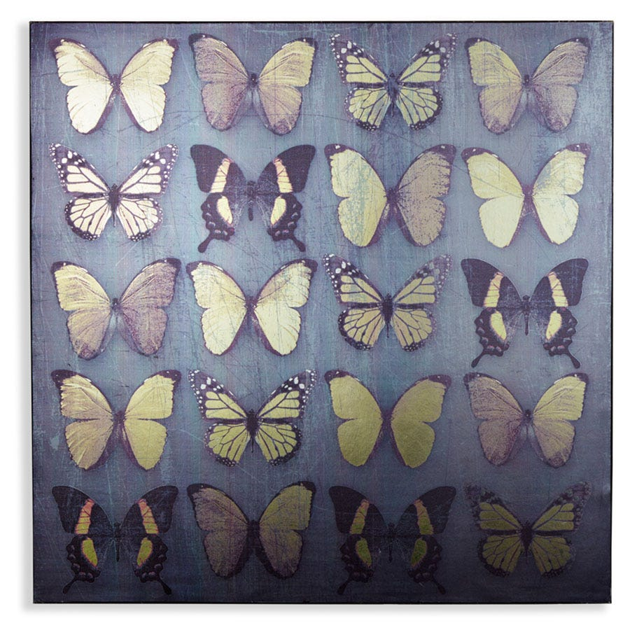 Compare cheap offers & prices of Arthouse Black Metallic Butterflies Canvas manufactured by Arthouse