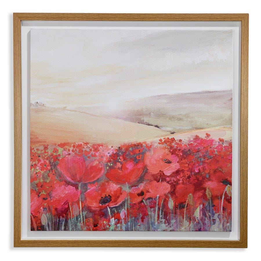 Compare cheap offers & prices of Arthouse Sunset Poppies Framed Wall Canvas manufactured by Arthouse