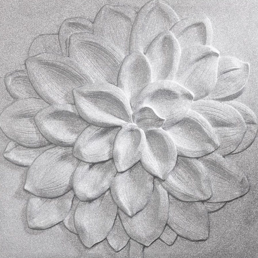 Compare cheap offers & prices of Arthouse Silver Dahlia 3D Wall Canvas manufactured by Arthouse