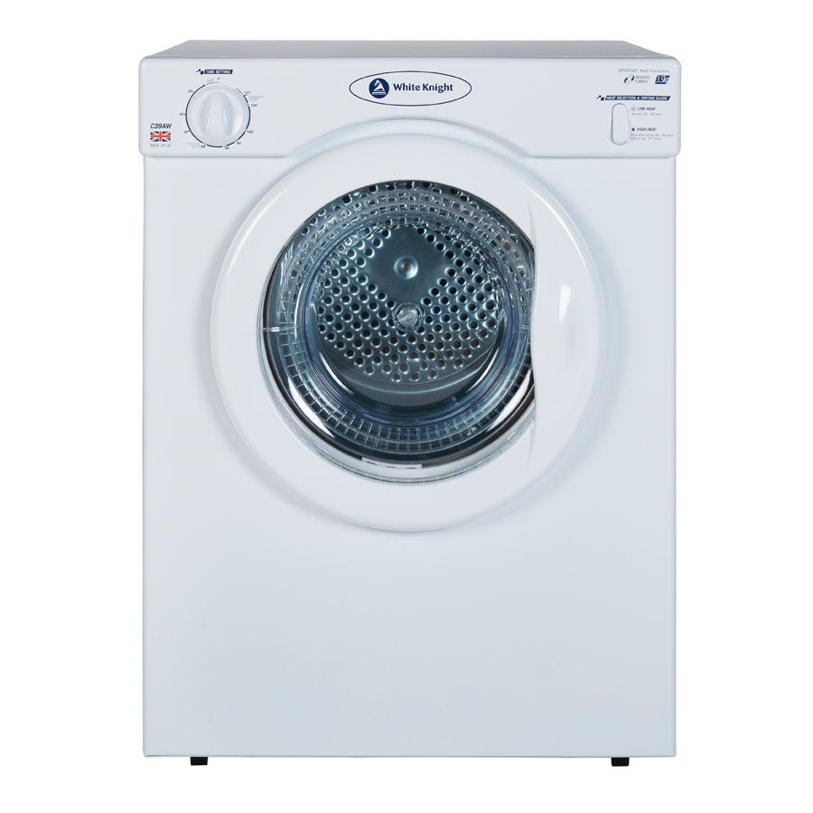 Compare prices for White Knight C39AW 3.5kg Reverse Action Tumble Dryer - White