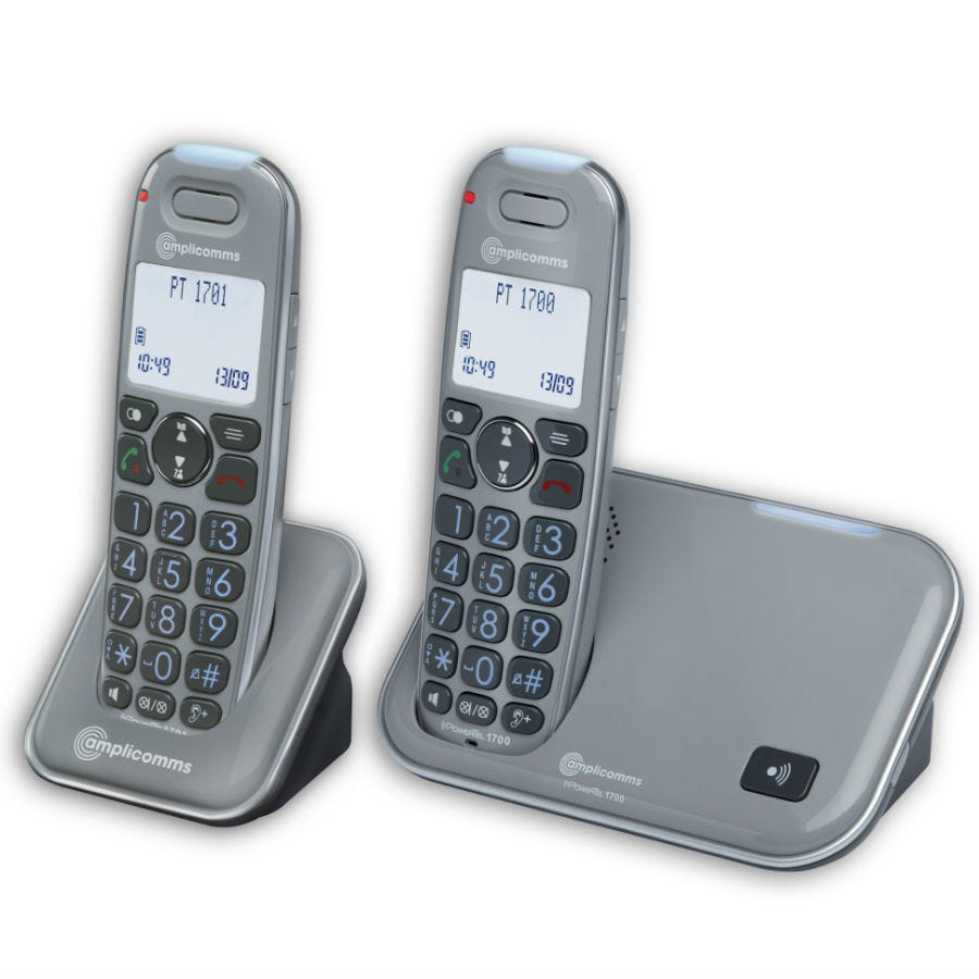 Compare prices for Amplicomms Powertel 1702 Amplified Big Button Cordless Phone - Twin