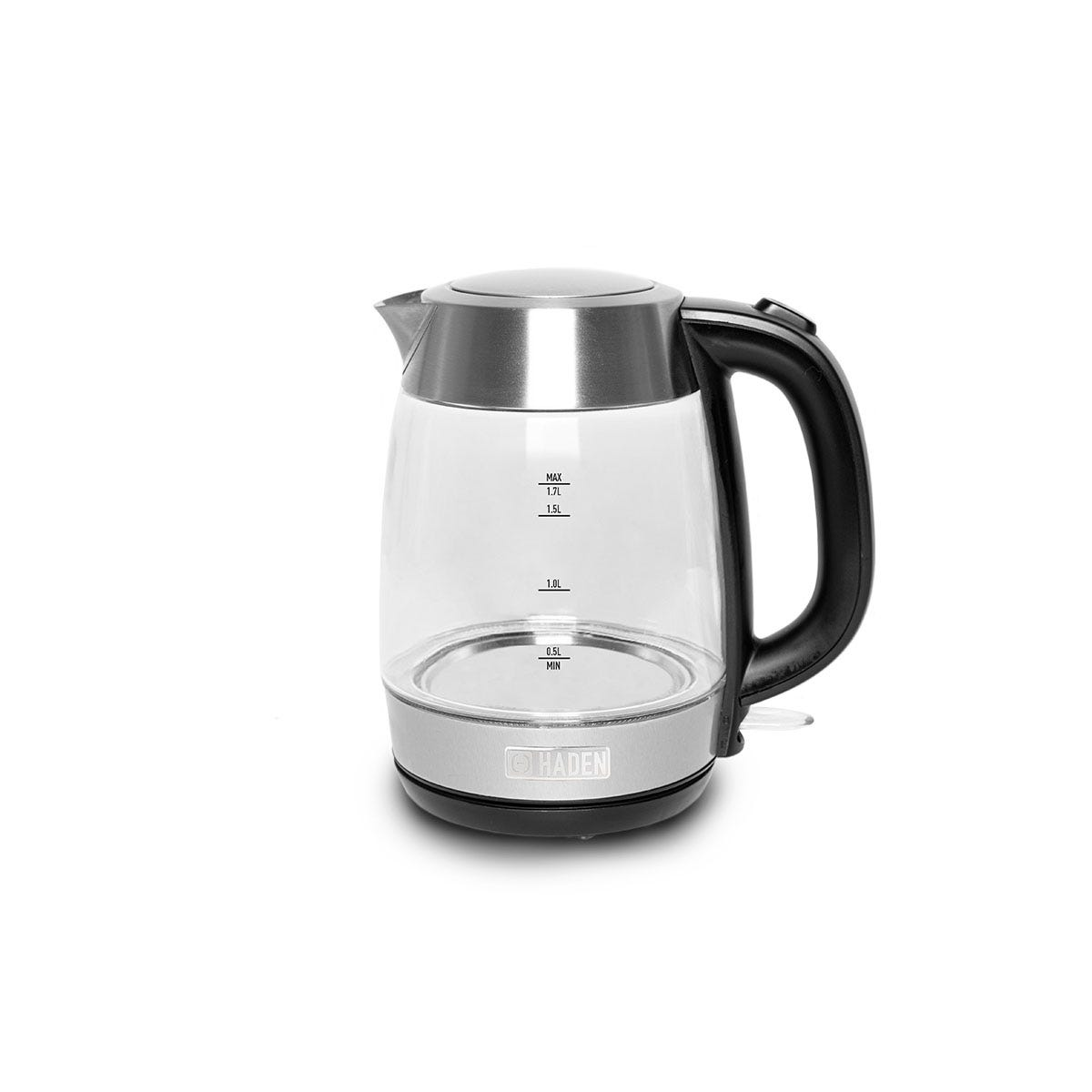 Haden 197214 Guildford 1.7L 3000W Glass Kettle - Clear