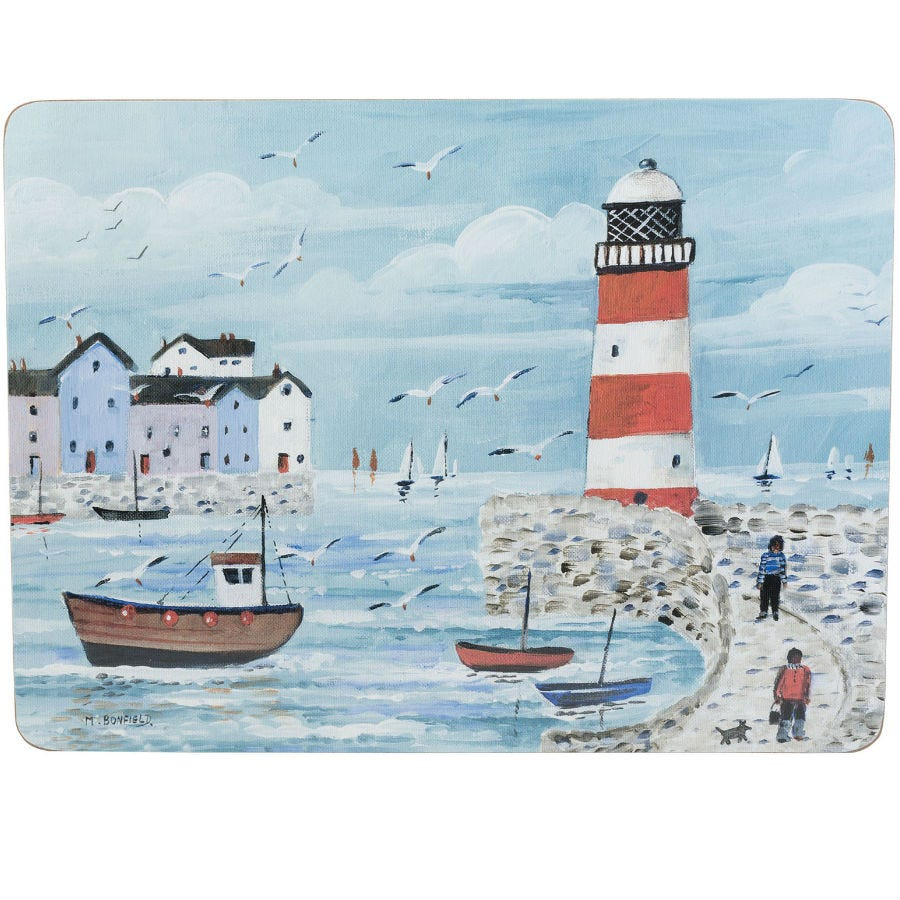 Compare prices for Creative Tops Lighthouse Coastal Placemats - Set of 4