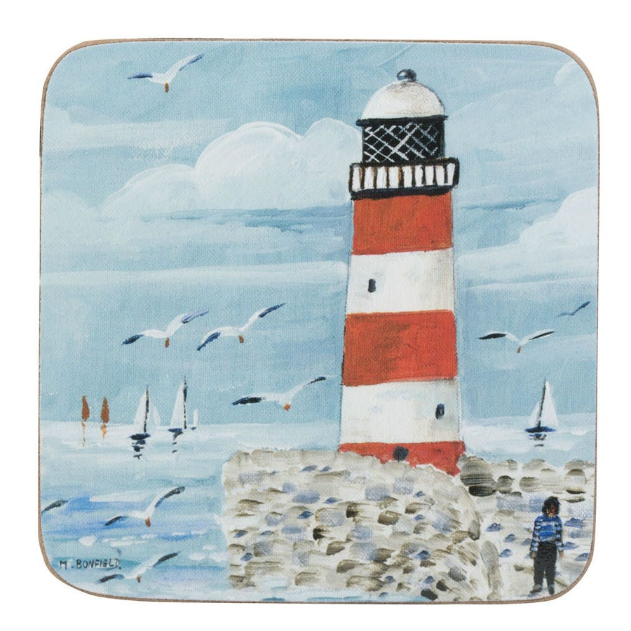 Compare prices for Creative Tops Lighthouse Coastal Coasters - Set of 4