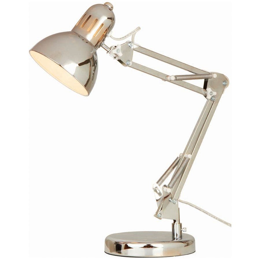 Compare prices for The Lighting and Interiors Group Adjustable Pixar Desk Lamp - Chrome