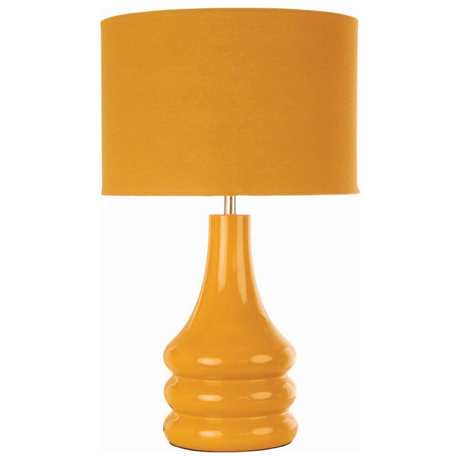 Compare prices for The Lighting and Interiors Group Raj Table Lamp - Ochre