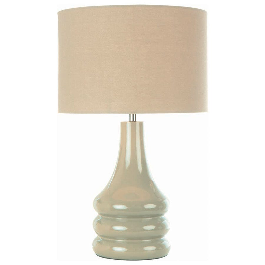 Compare prices for The Lighting and Interiors Group Raj Table Lamp - Putty