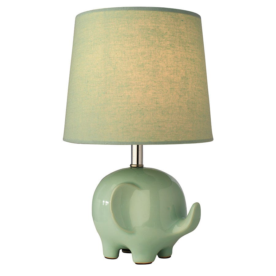 Compare prices for The Lighting and Interiors Group Ellie Table Lamp - Mint Green