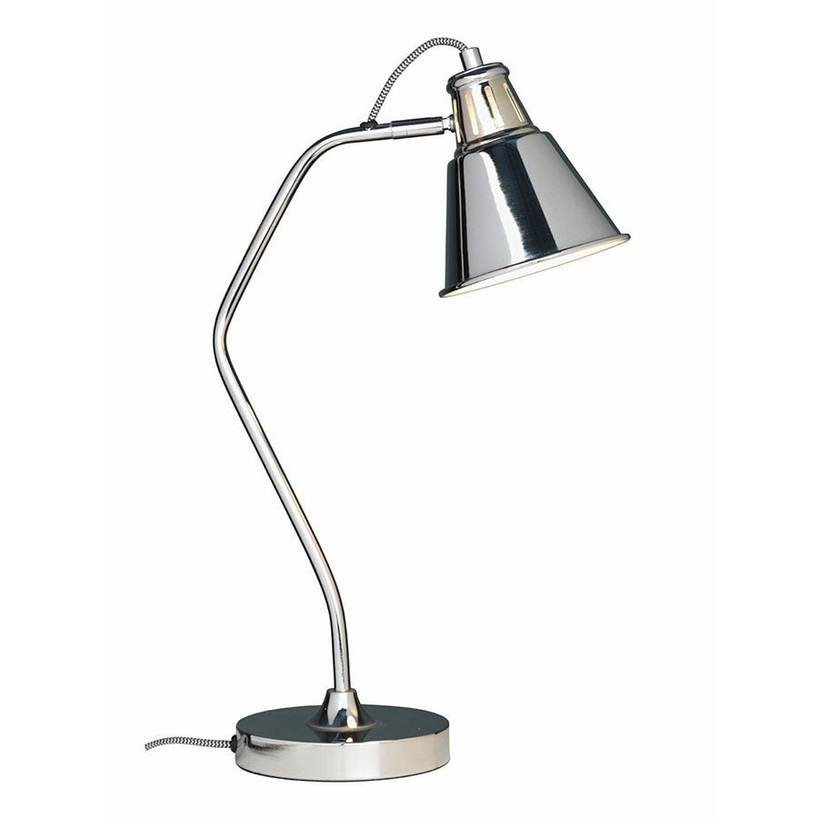 Compare prices for The Lighting and Interiors Group Vale Desk Lamp - Chrome