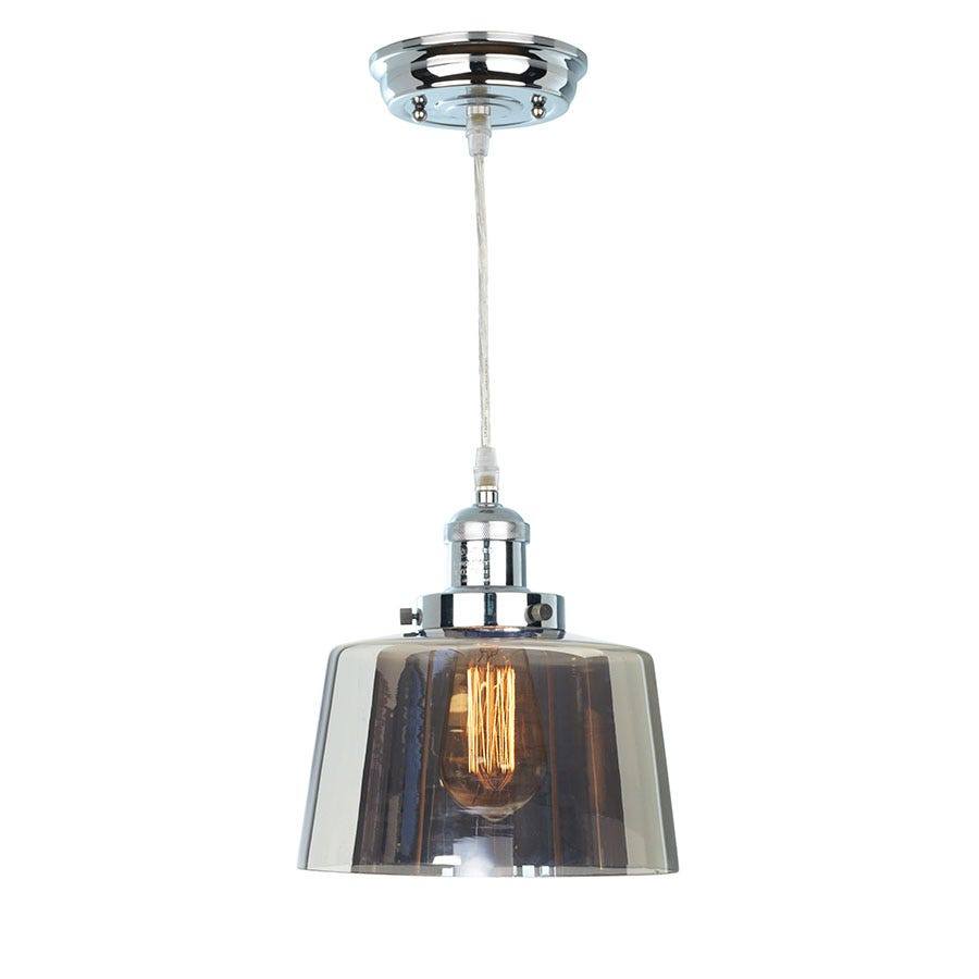 Compare prices for The Lighting and Interiors Group Action Smoked Glass Lantern Ceiling Light - Chrome
