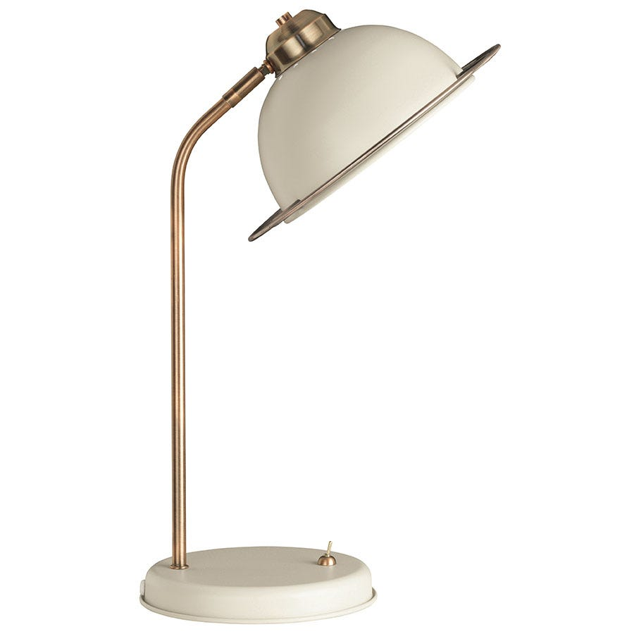 Compare prices for The Lighting and Interiors Group Bauhaus Table Lamp - Cream