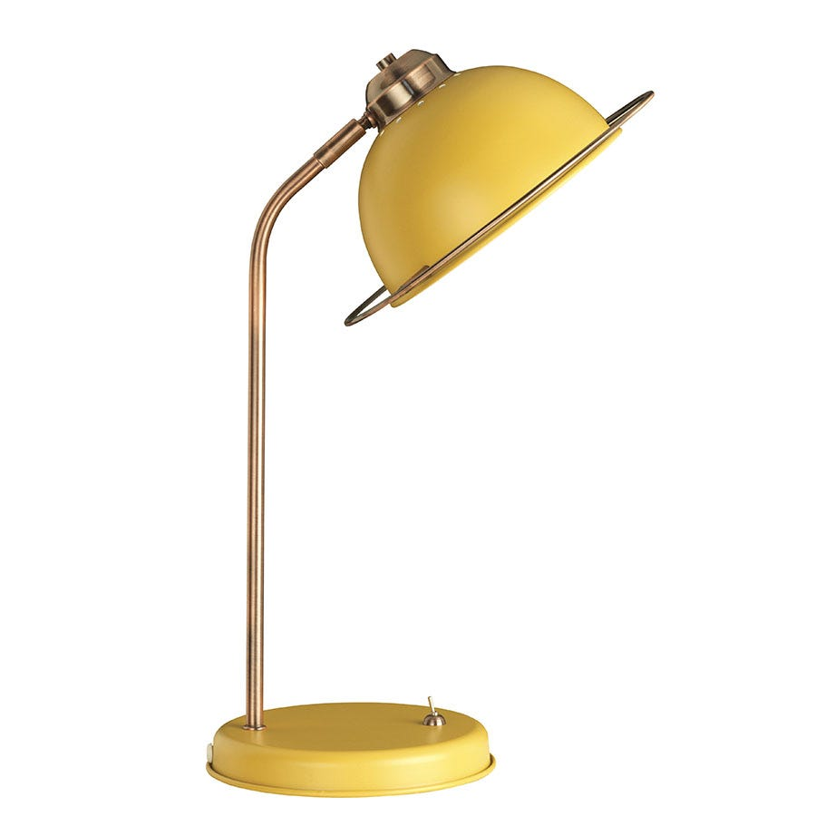 Compare prices for The Lighting and Interiors Group Bauhaus Table Lamp - Ochre