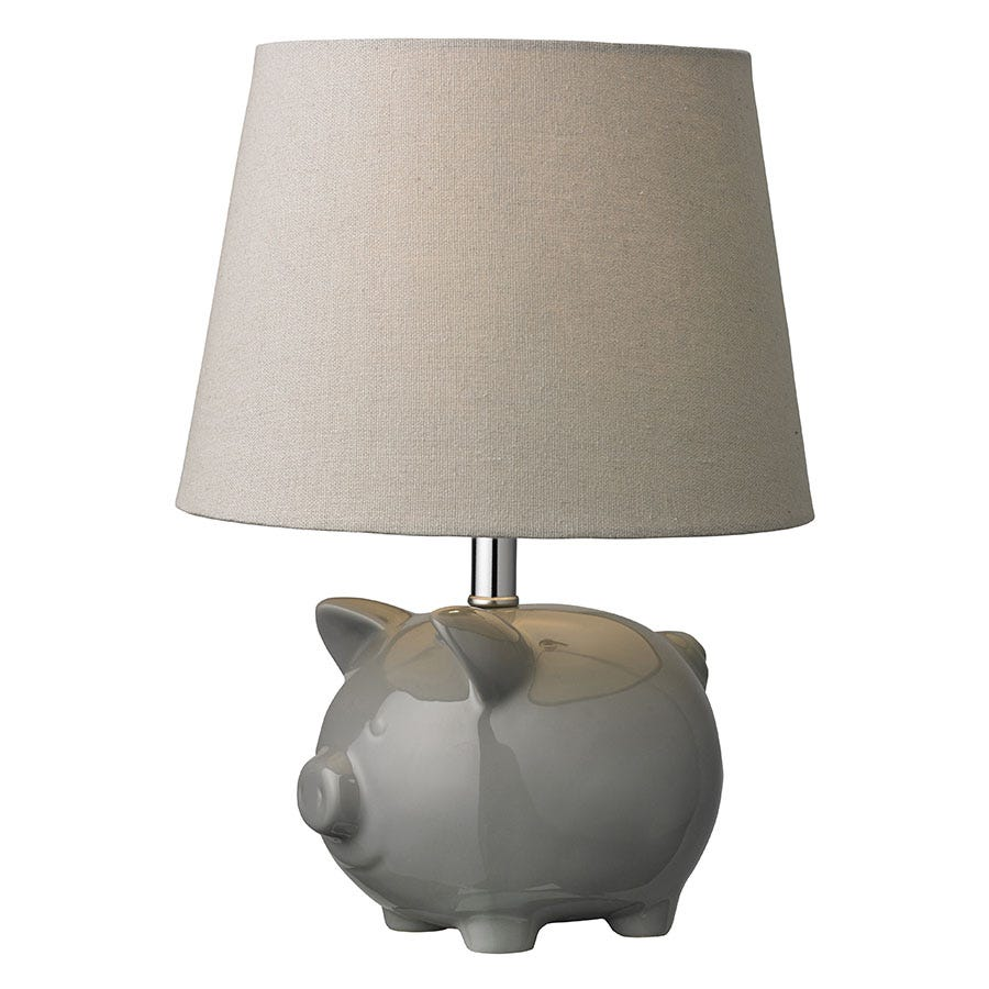 Village At Home Stanley Table Lamp - Grey