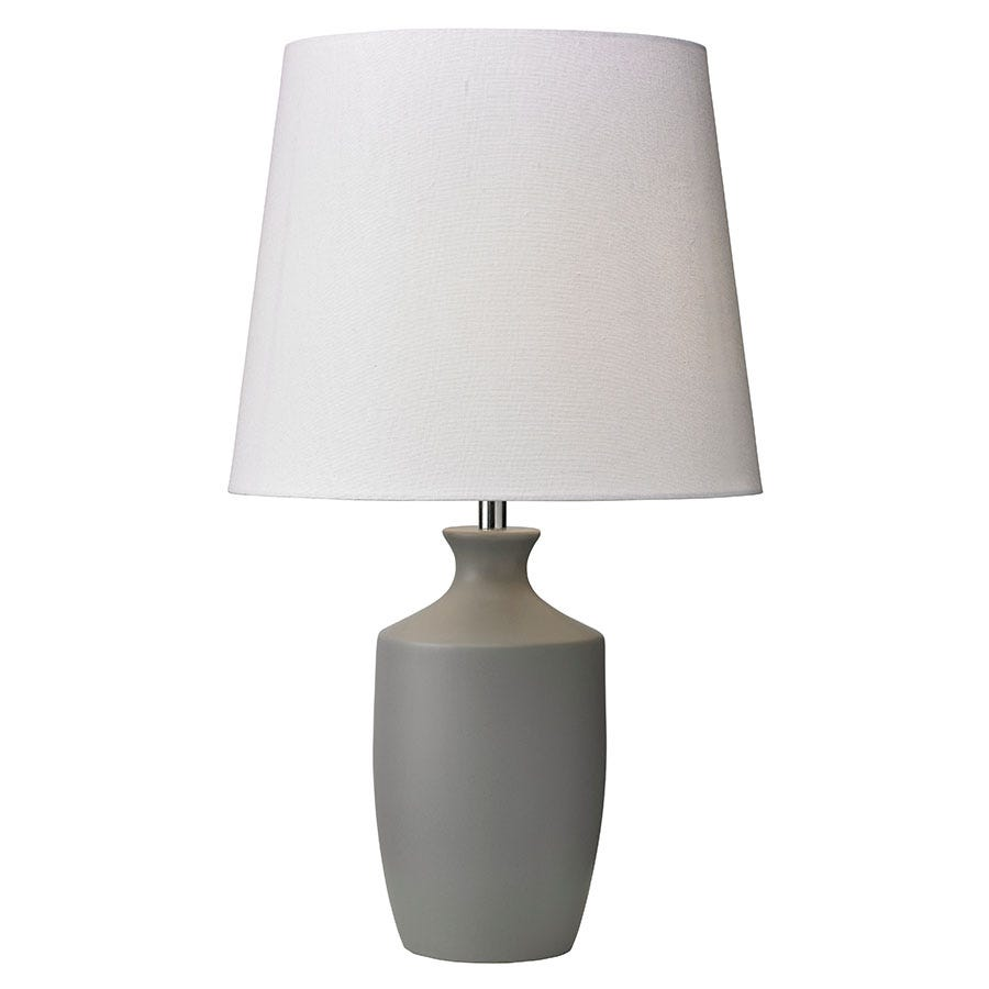Village At Home Ernest Table Lamp - Grey