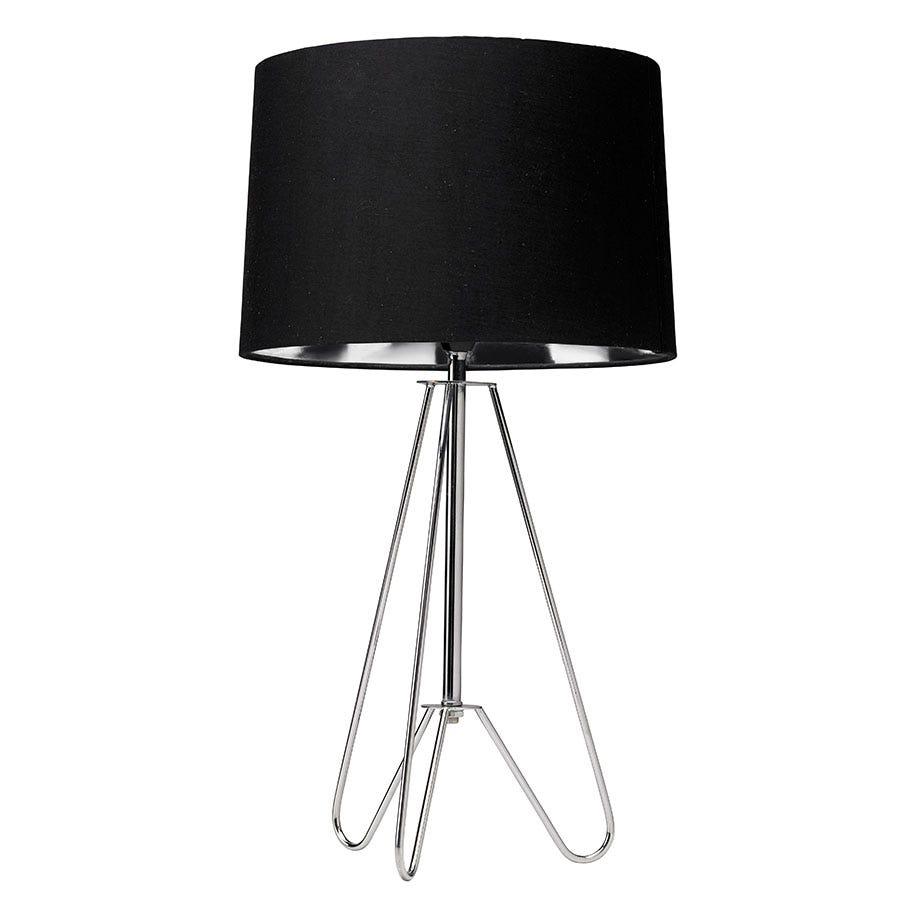 Village At Home Ziggy Tripod Table Lamp - Black
