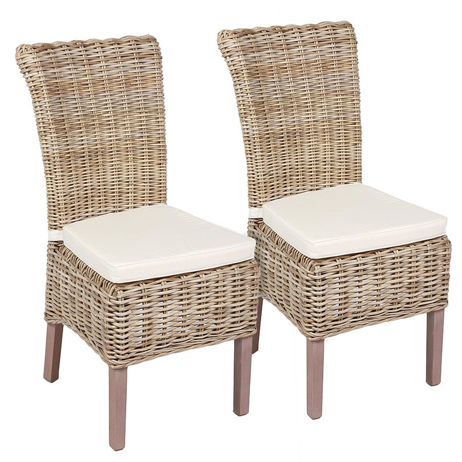 Compare cheap offers & prices of Robert Dyas Tocino Ready Assembled Pair of Wicker Chairs manufactured by Robert Dyas