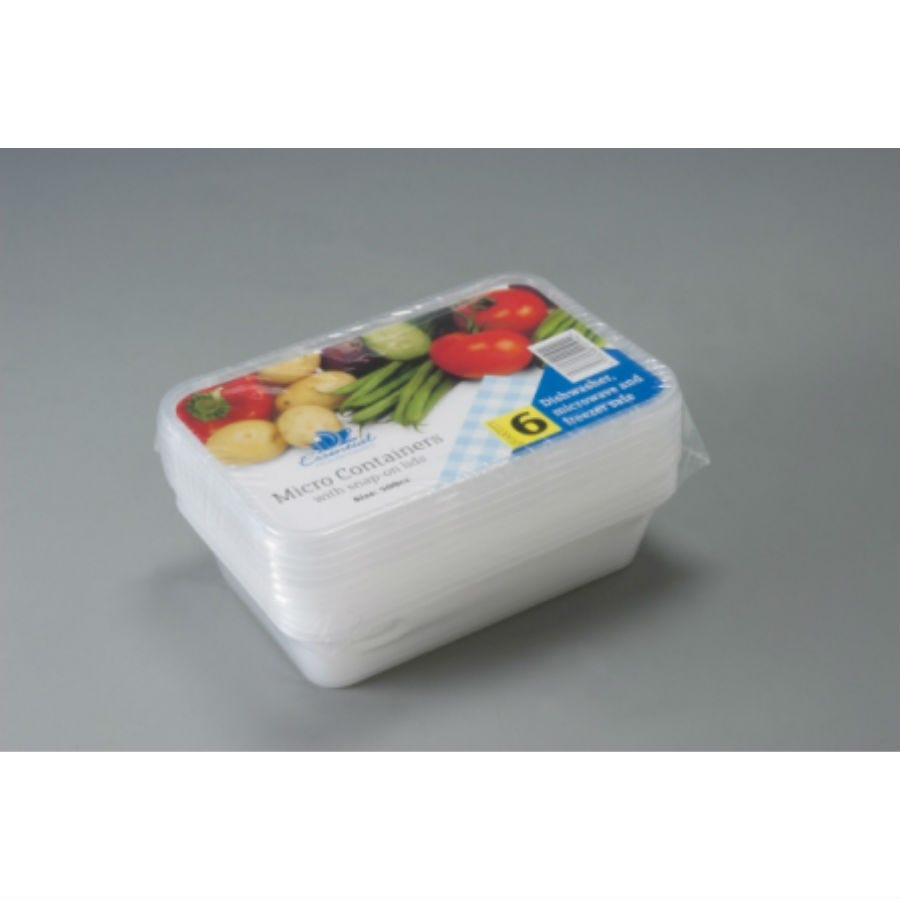 Compare prices for Essential House 500cc Microwave Containers - 6 Pack