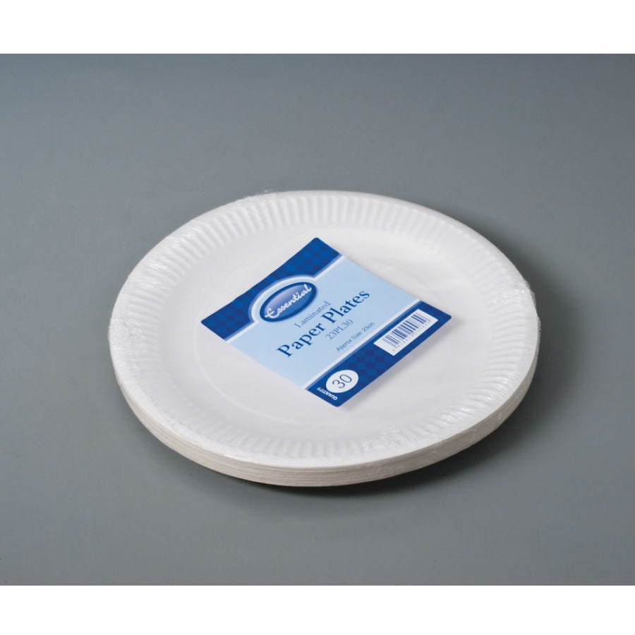 Compare prices for Essential House Biodegradable Paper Plates - 30 Pack
