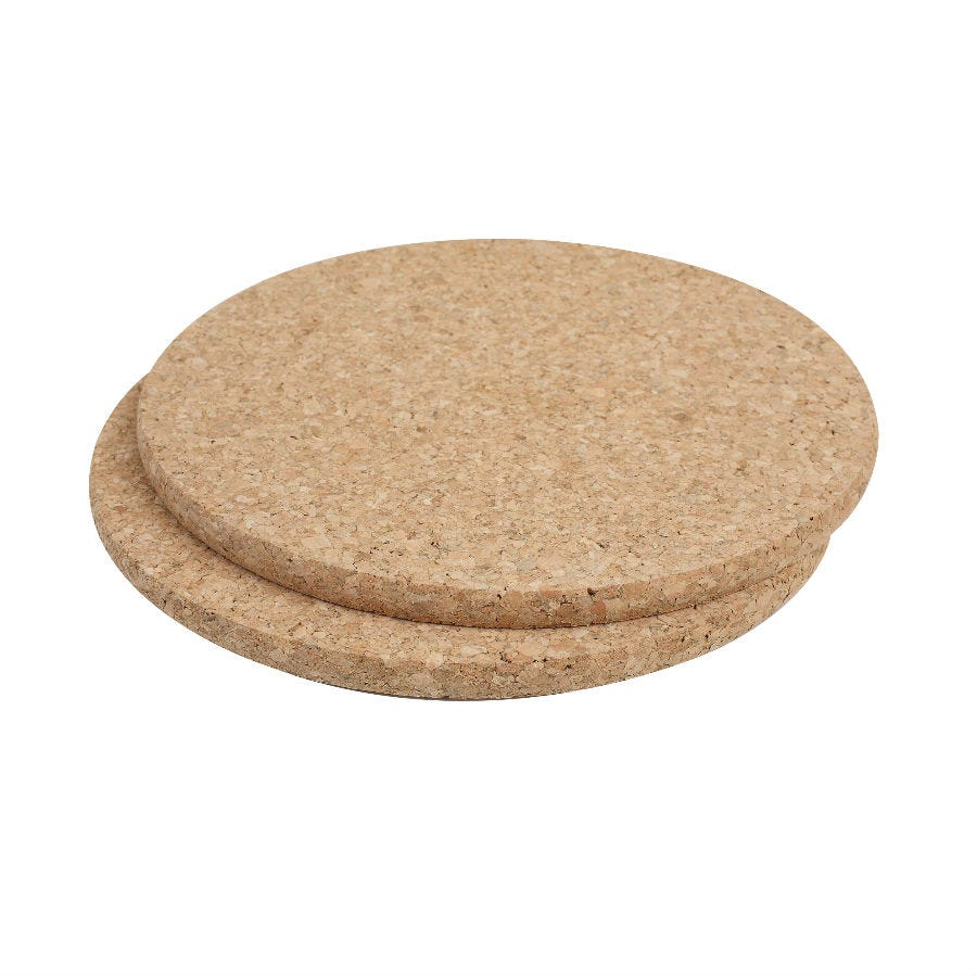 Compare prices for T and G Round Cork Pot Stands - Set of 2