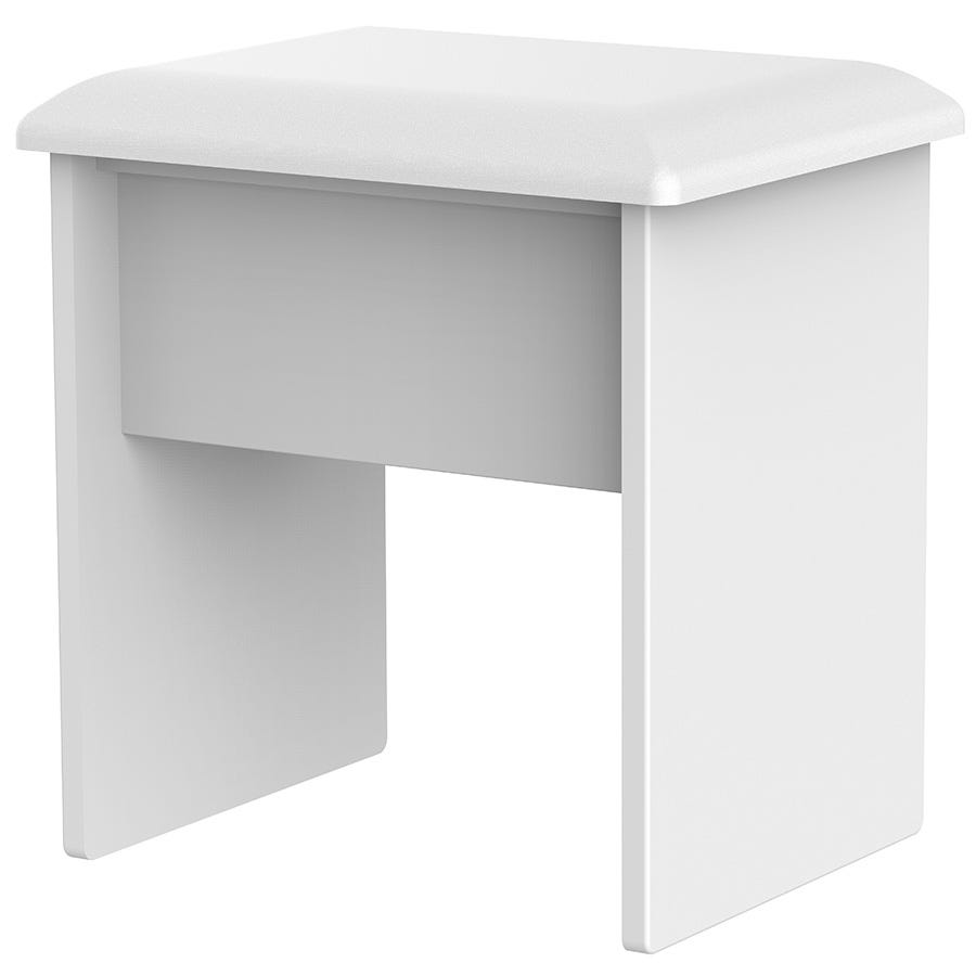 Tedesca Dressing Table Stool - White