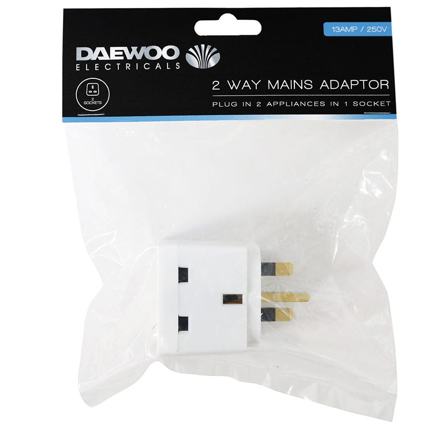 Compare prices for Daewoo 2-Way Mains Adaptor - 13 Amp