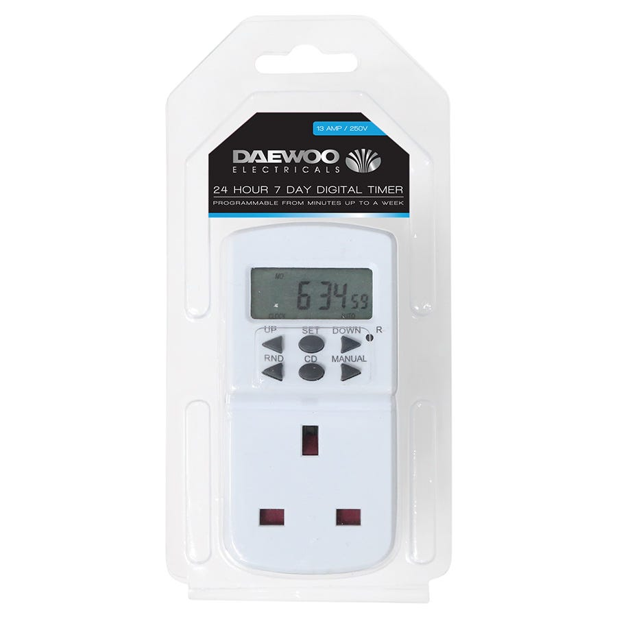 Compare retail prices of Daewoo 24/7 Digital Timer - 13 Amp to get the best deal online