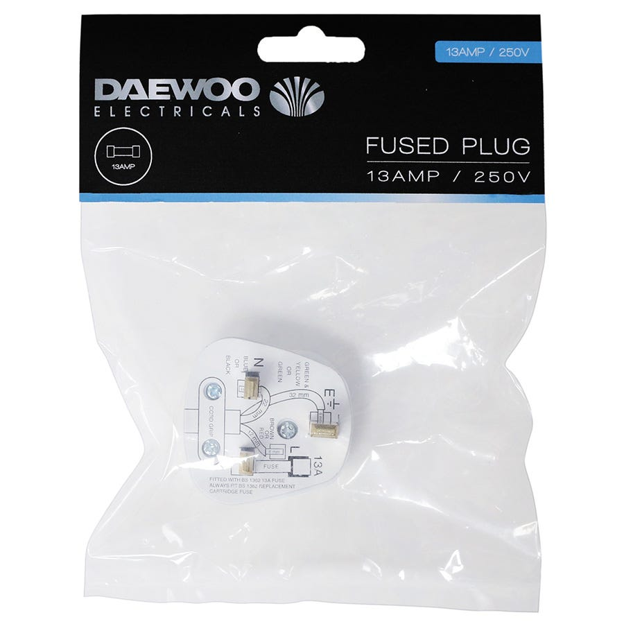 Cheapest price of Daewoo 13A Fused Plug in new is £1.79